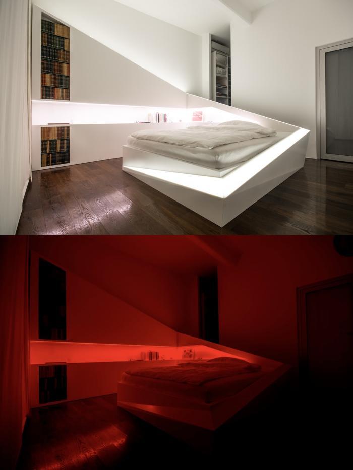 أفكار إضاءة غرفة نوم رائعة (28 صورة)