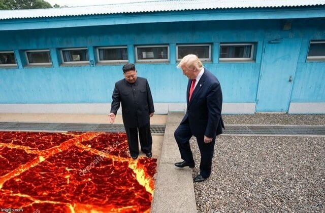 متعة الصورة على دونالد ترامب وكيم جونغ أون