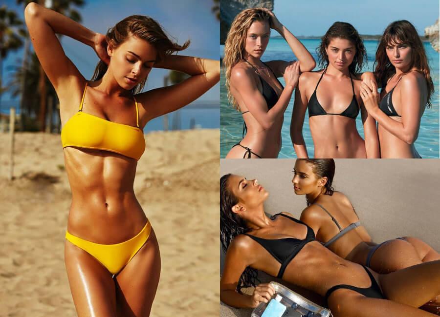 صور الفتيات الجميلات في ملابس السباحة على الشاطئ (47 صور)