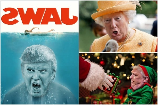 يقوم الناس بتصوير ترامب لإزعاج معجبيه ، إليك أطرف الأمثلة.